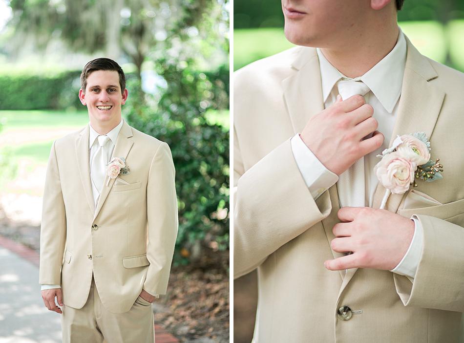 groom details light tan