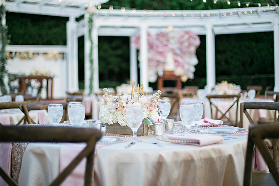 pink wedding reception