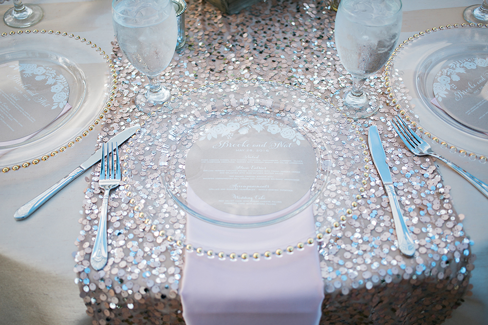 sequin table liner