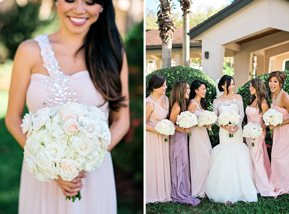 unique blush bridesmaids