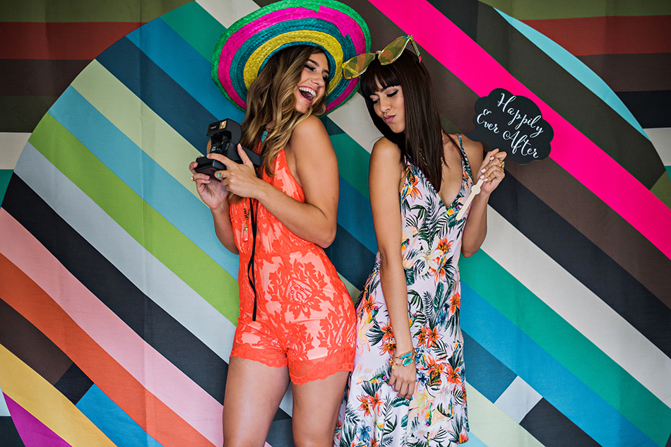 colorful backdrop photobooth