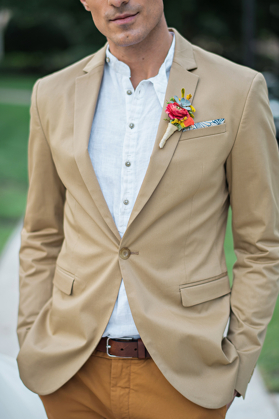 colorful boutonniere