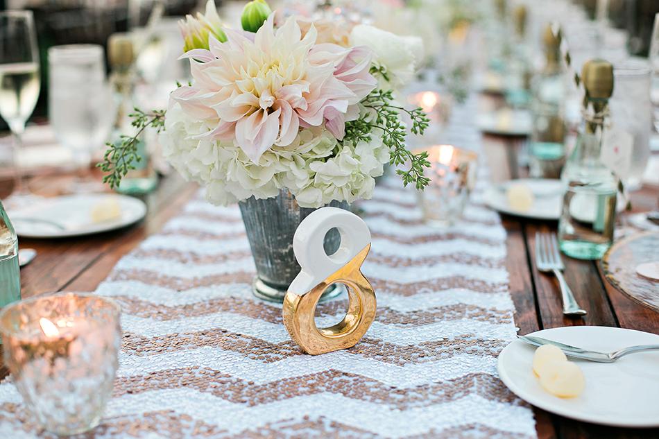 sequin wedding table liner