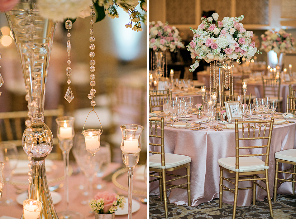 elegant tall reception centerpieces