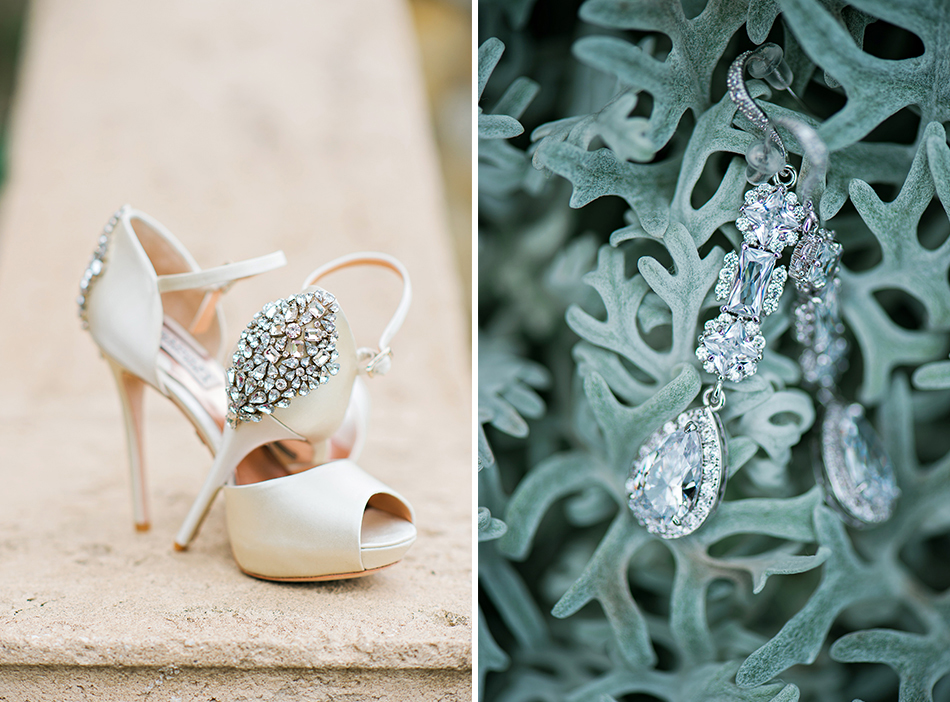 wedding jewelry and shoes