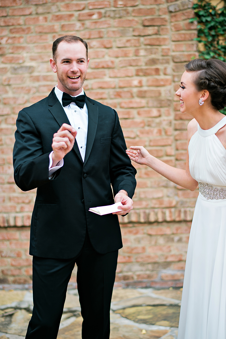 maid of honor and groom real moments