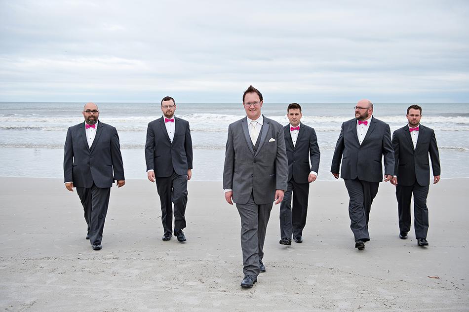 gray groomsmen tuxedo