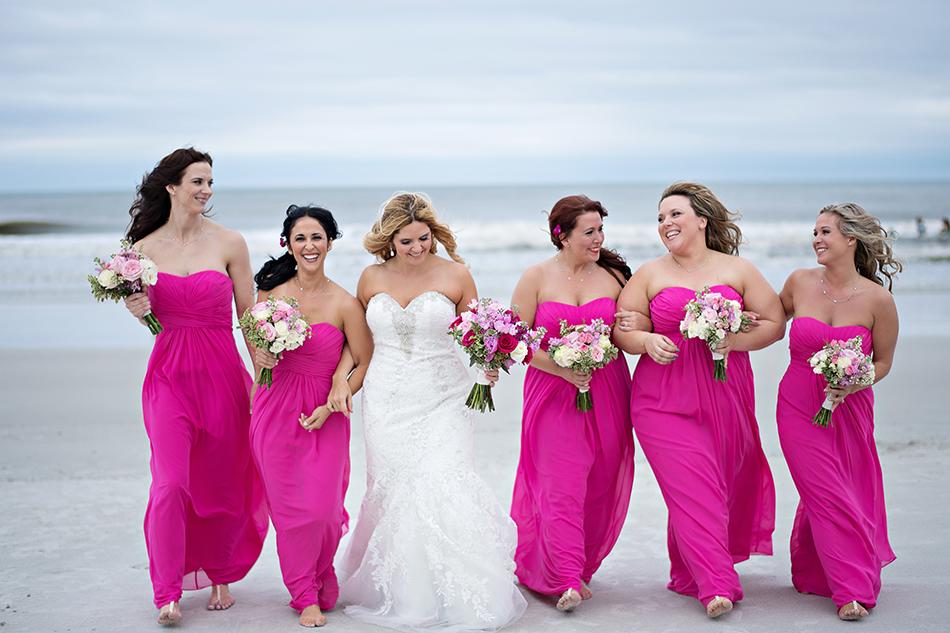waterfront wedding bridesmaids