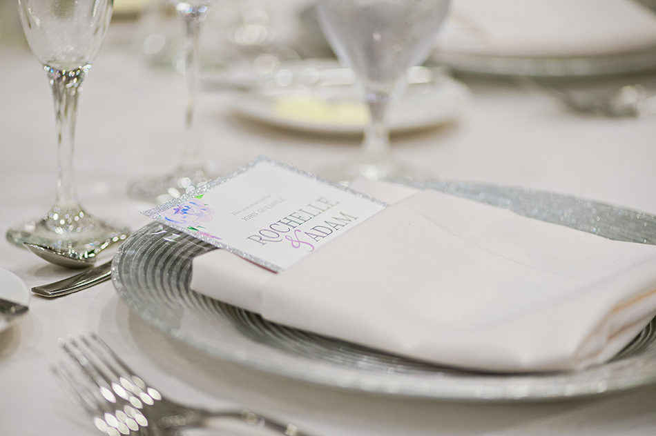 silver wedding reception details