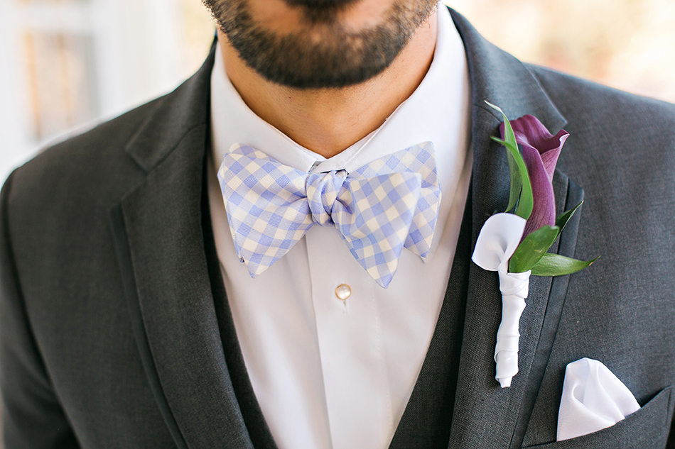 groom boutonniere and bowtie