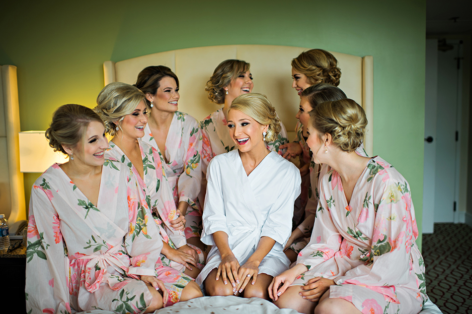 cute floral bridesmaid robes