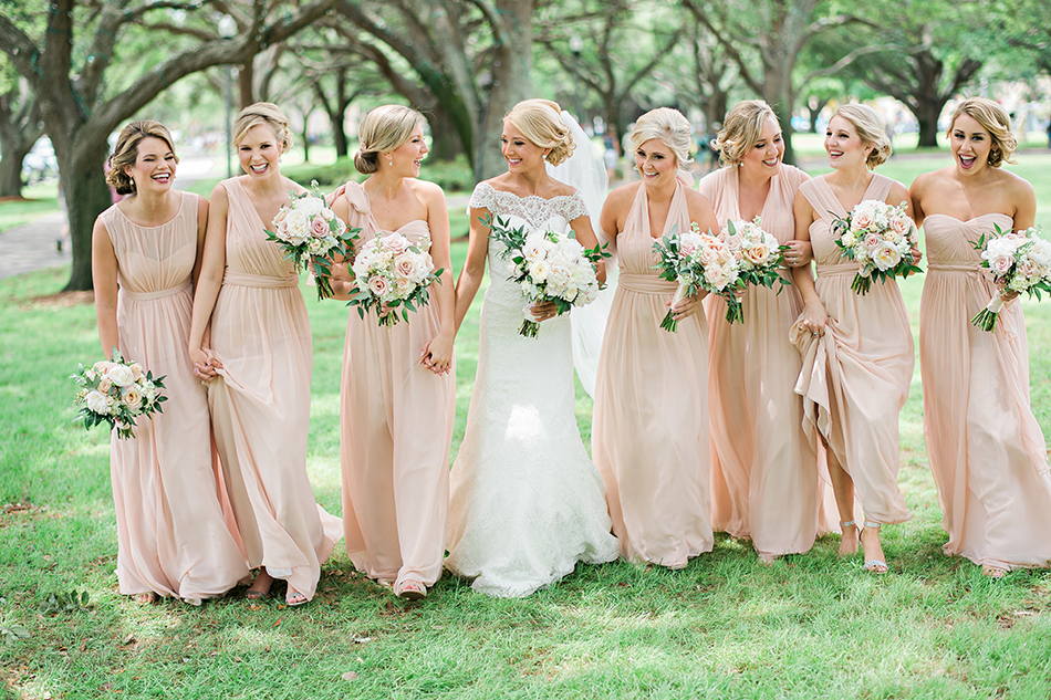 outdoor bridesmaid wedding photography