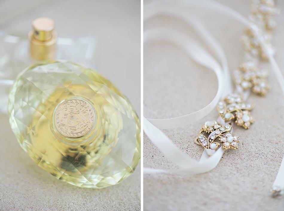 Gold Versace perfume bottle