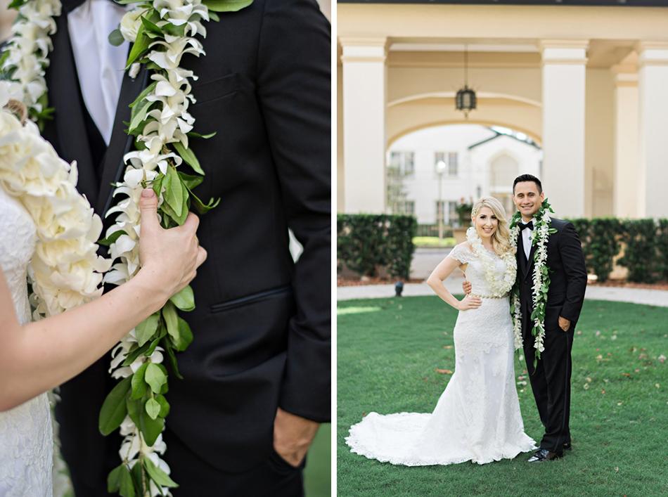 Wedding leis <a class=