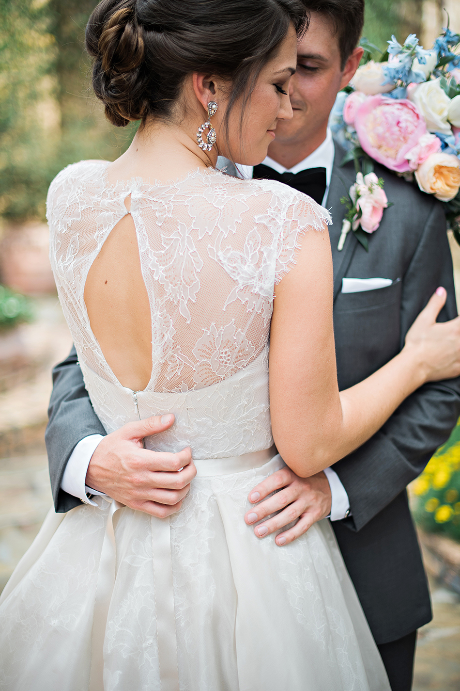 Rivini wedding gown lace back