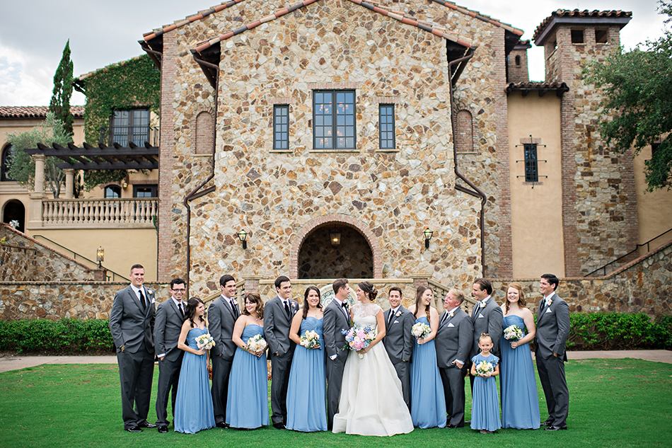 Blue wedding party at Bella Collina <a class=