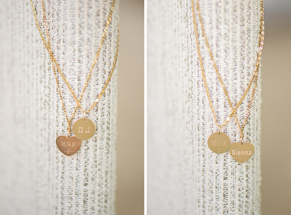 Kids monogrammed necklaces wedding gift