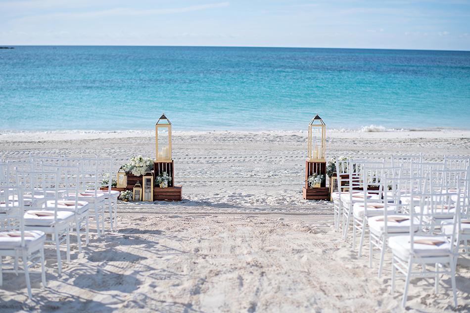Beach ceremony space
