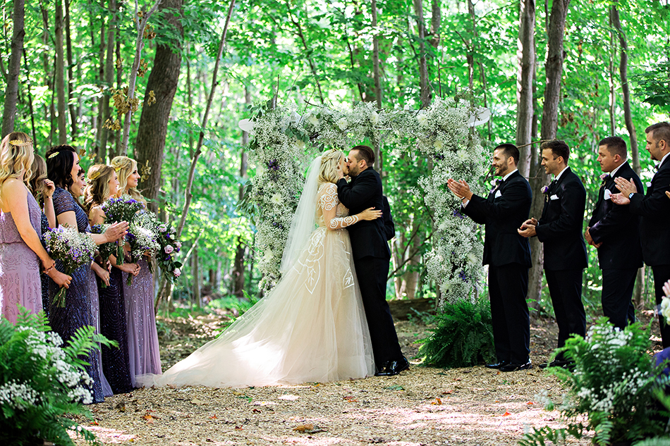 Wedding in the woods of New York by KWP Masters Lacey and Gabe of Kristen Weaver Photography