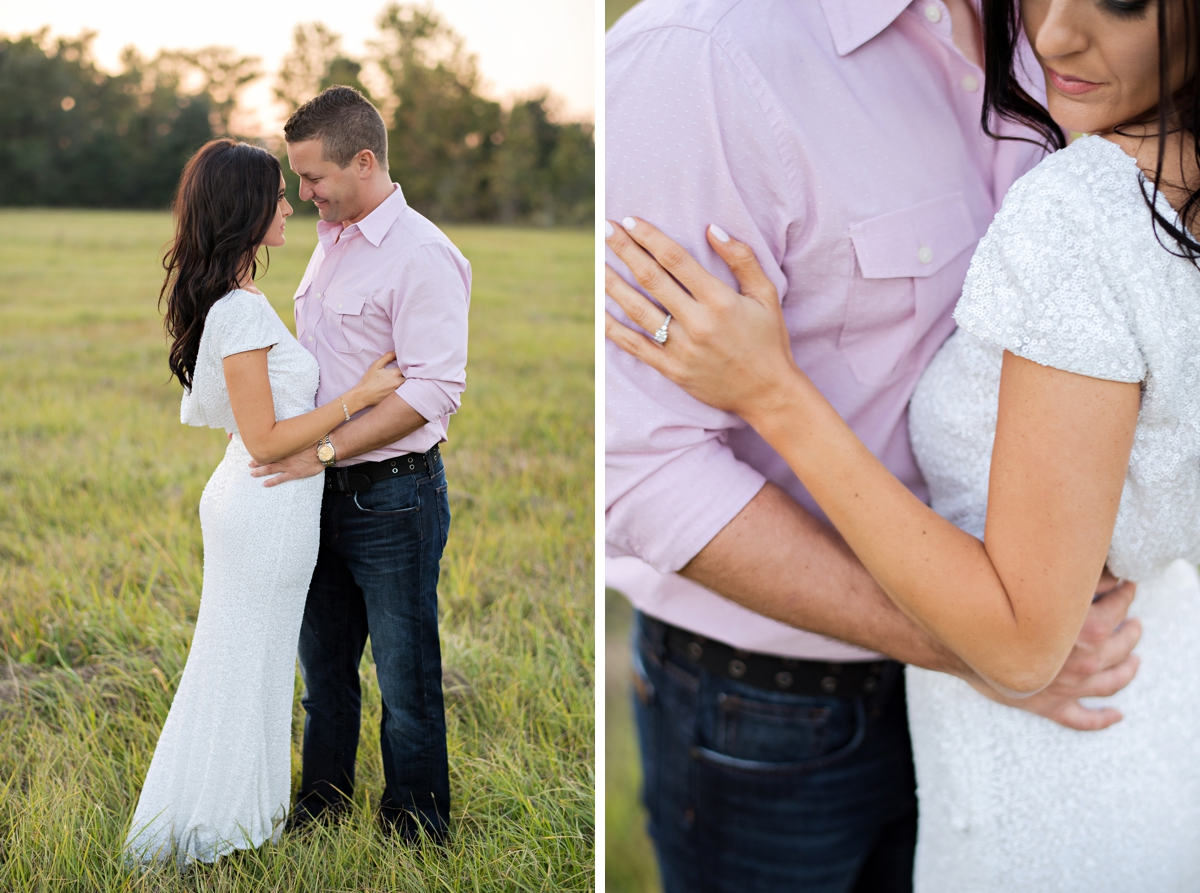 Glamour field engagement session in Orlando, FL