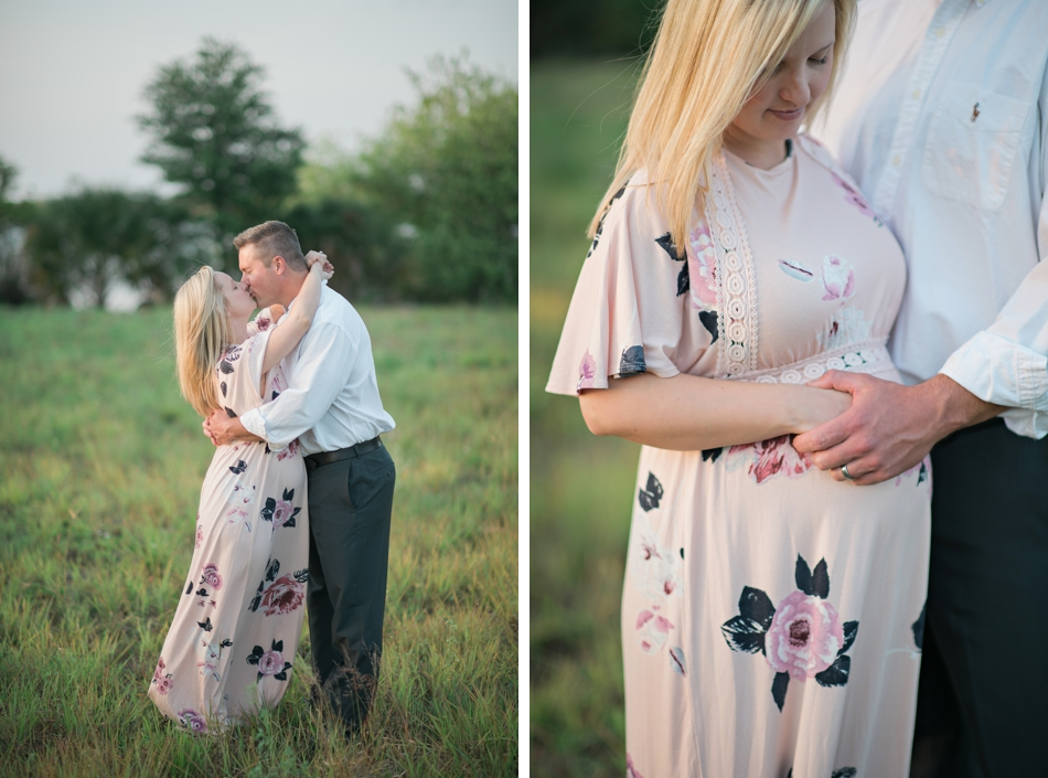 Field maternity session in Orlando