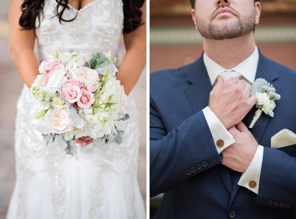 bride and groom wedding details