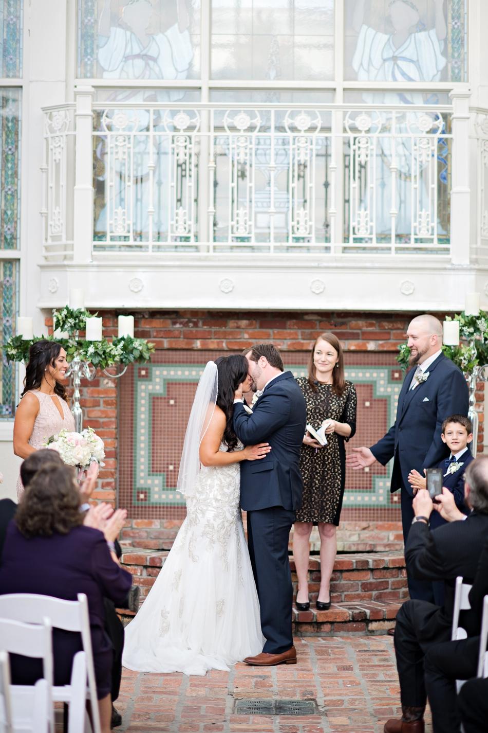 november outside wedding ceremony