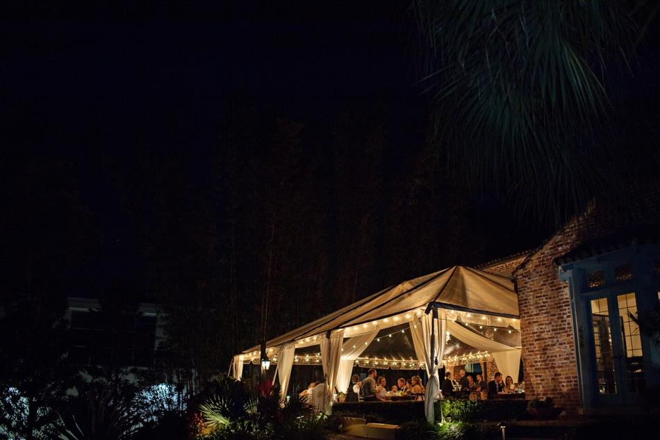 Casa Feliz at night