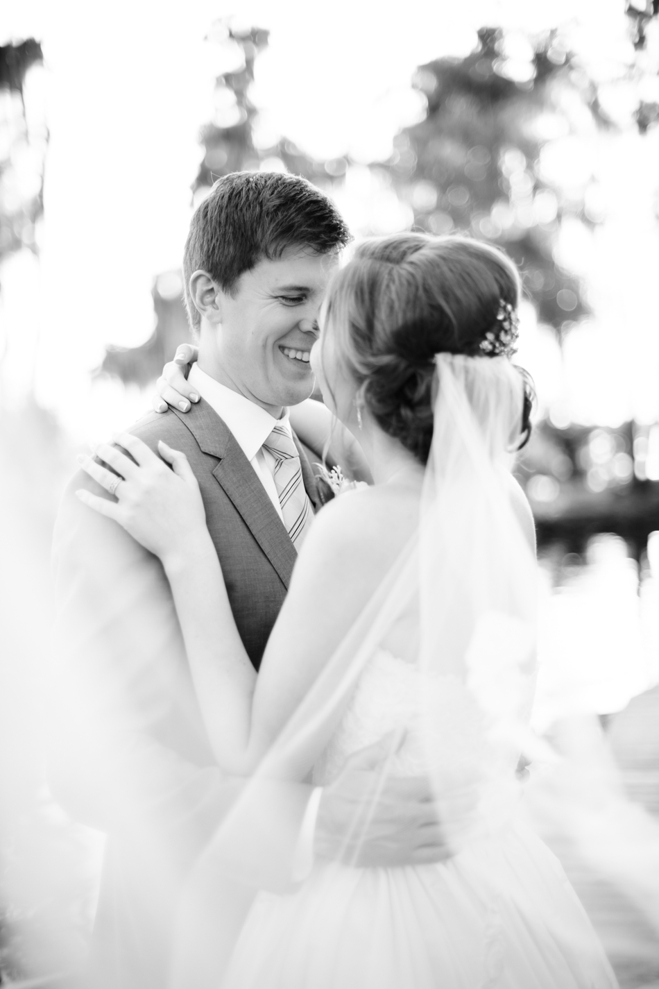Black and white wedding day pictures