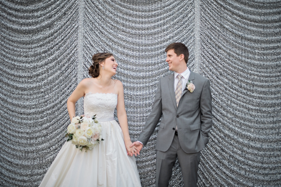 fun candid bride and groom pic