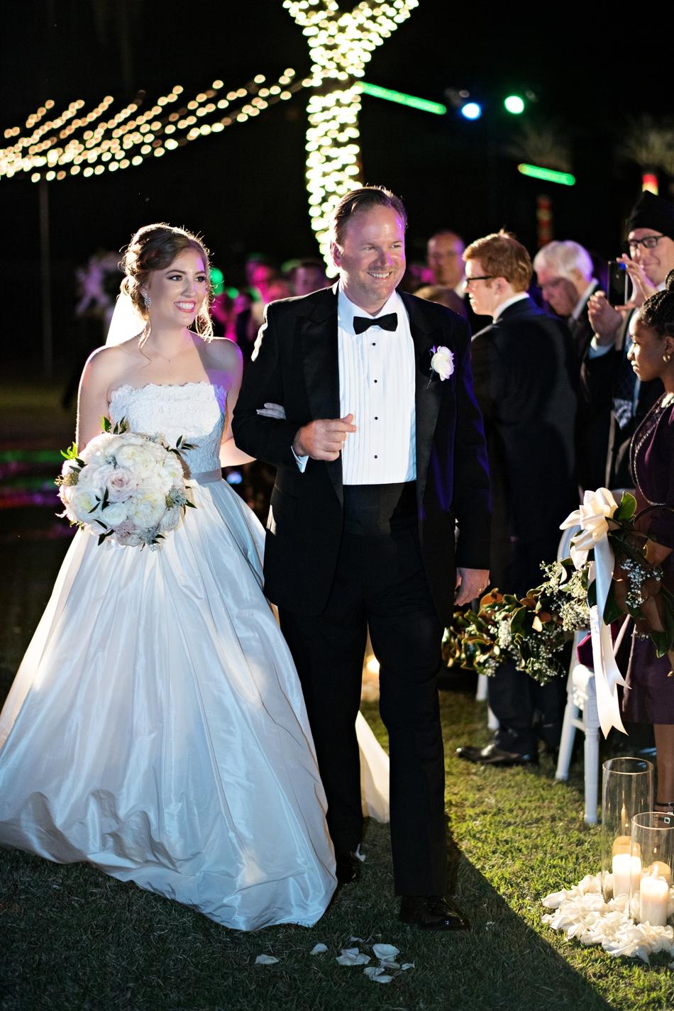 night wedding ceremony