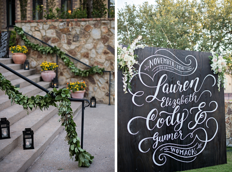 reception decor - outdoor reception