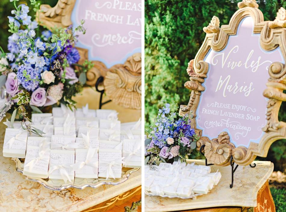 wedding favor table