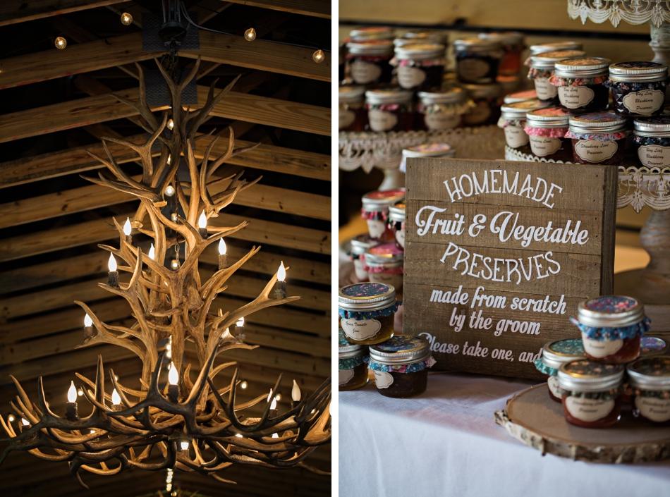 homemade fruits and preserves, unique wedding favors