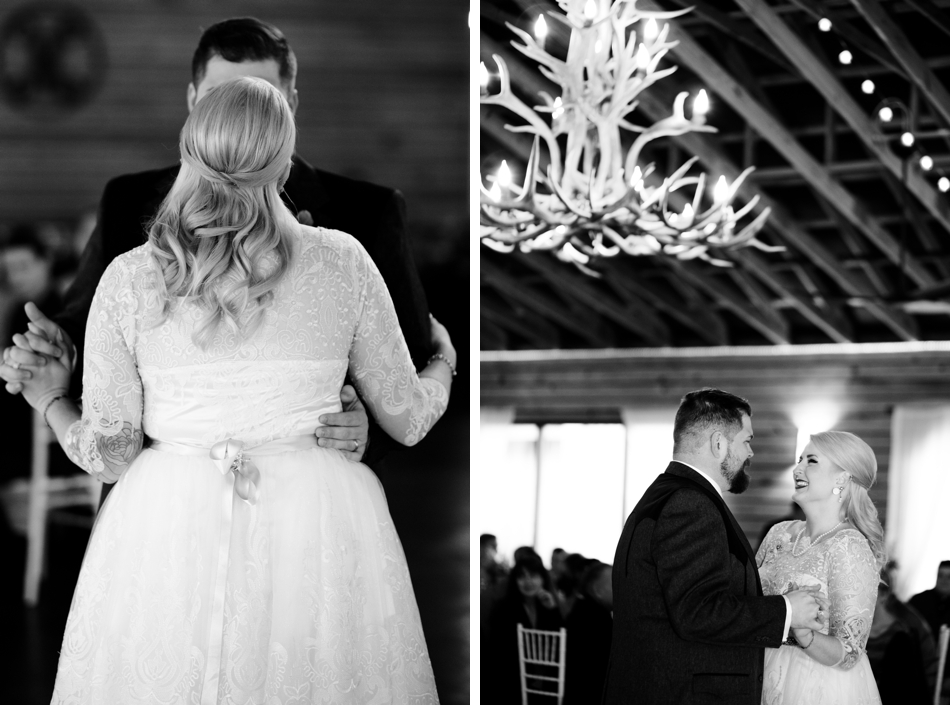 black and white reception first dance