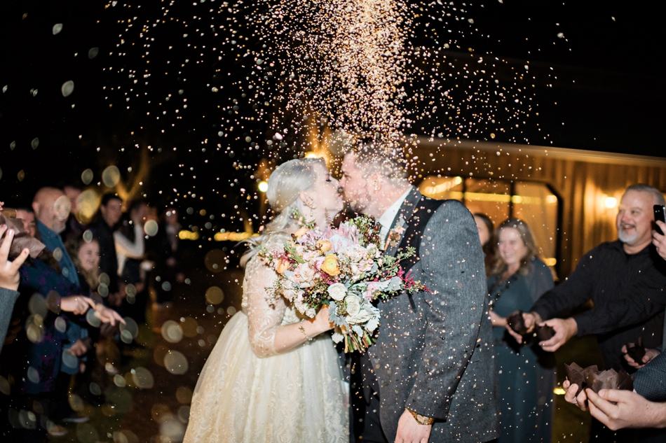 rice throw wedding exit