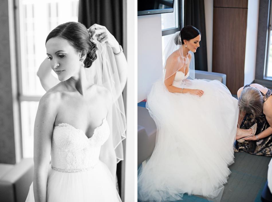 bride getting ready at aloft