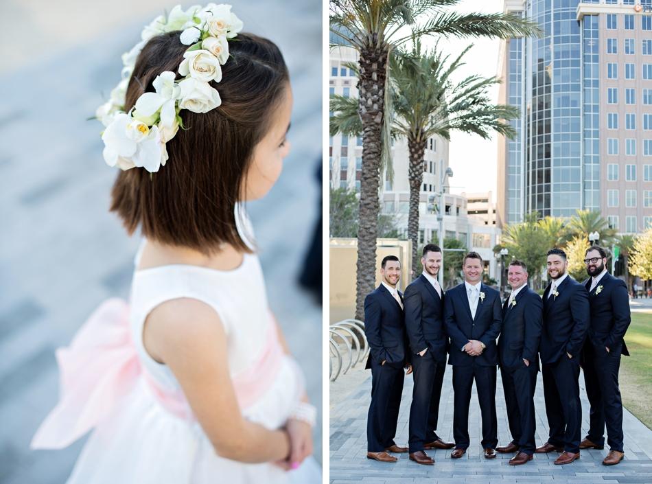 flower girl and groomsmen