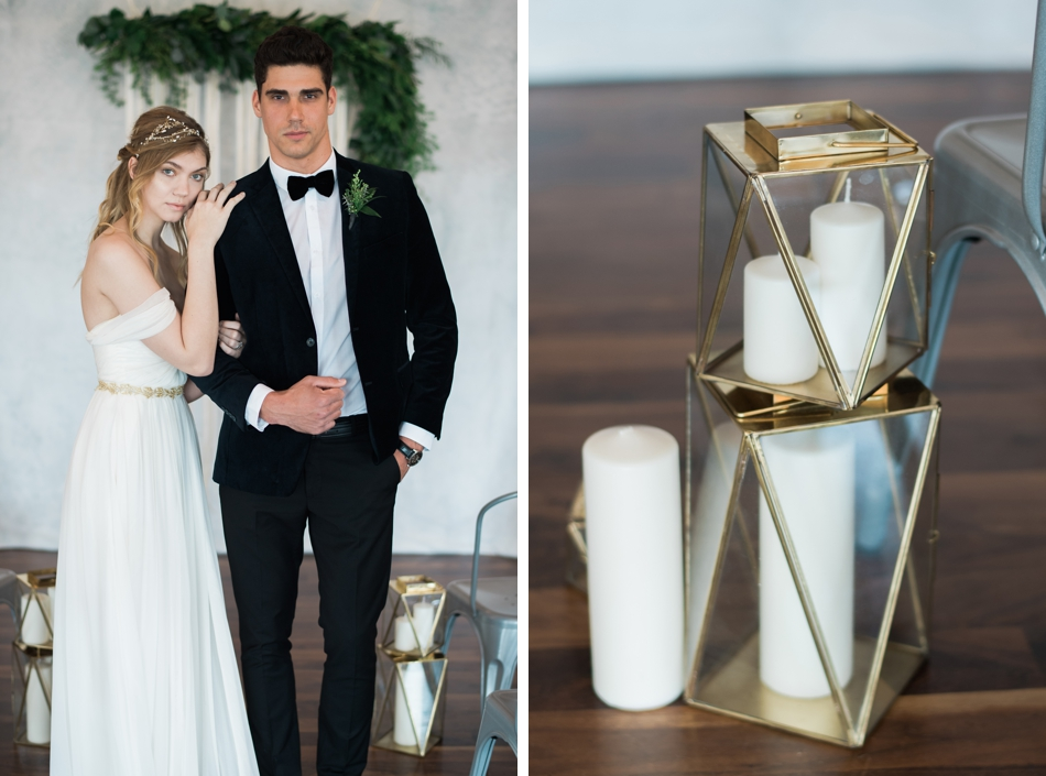 Gold wedding decor