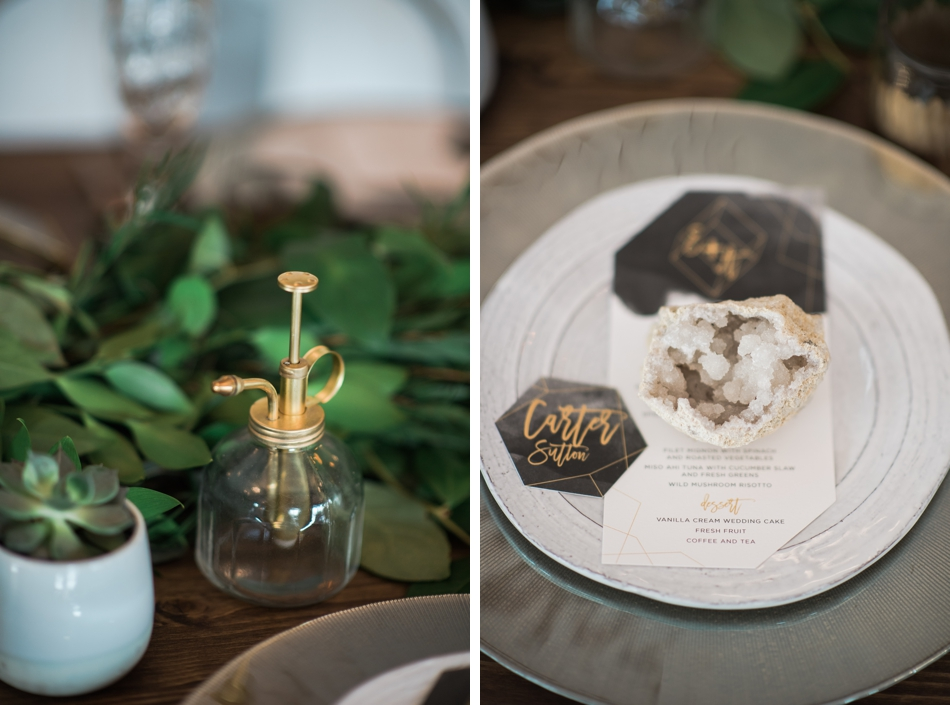 Mixed metals wedding