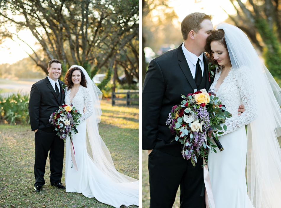 beautiful bride and groom portraits
