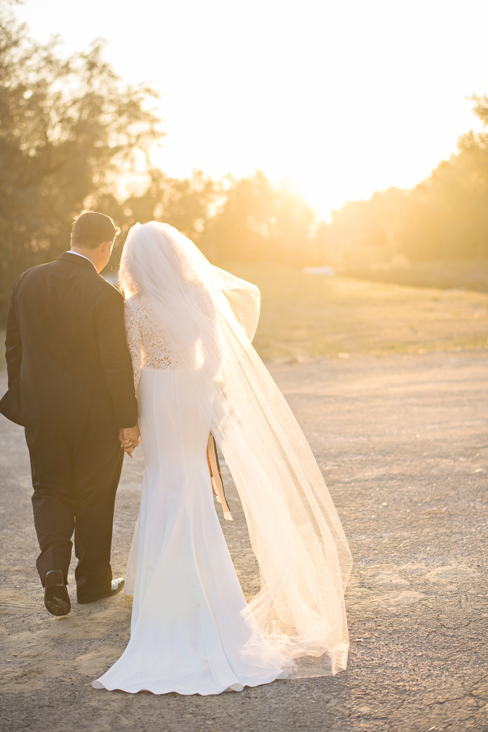 kristen weaver photography - sunset wedding picture