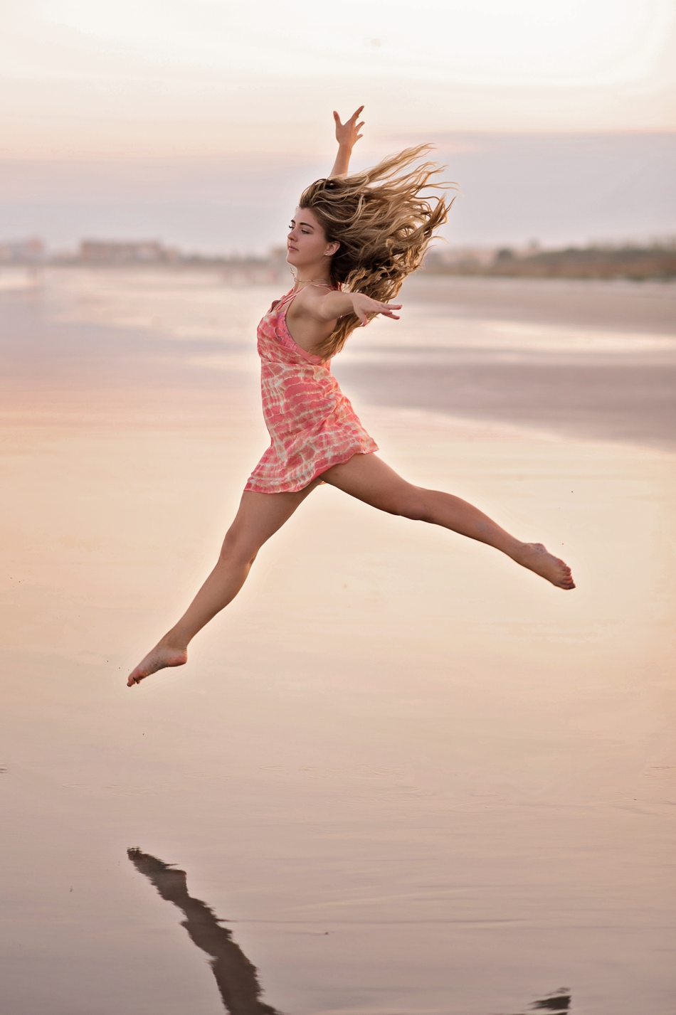 amazing dance photo - senior dancer on beach
