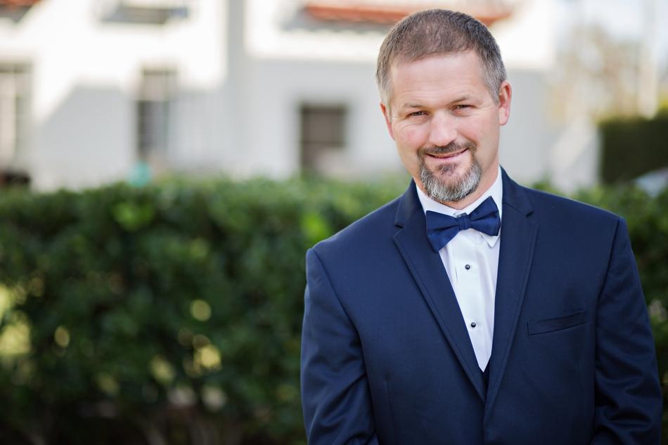 navy blue groom suit