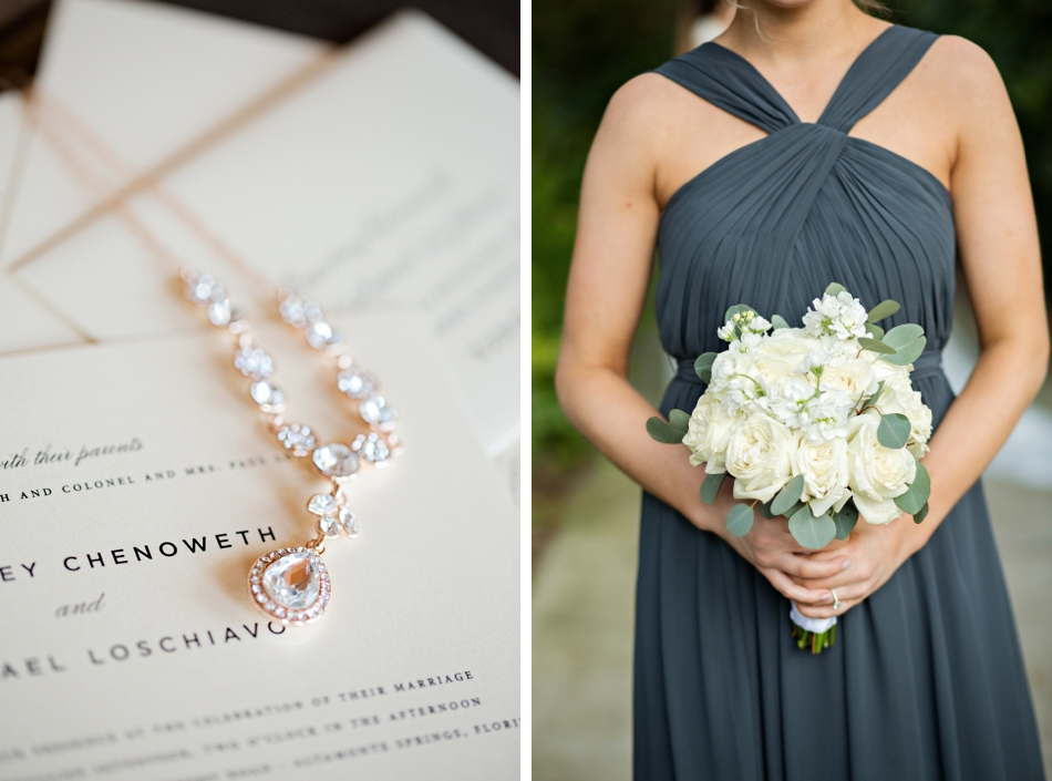 shine wedding invitations, dusty blue bridesmaid gown