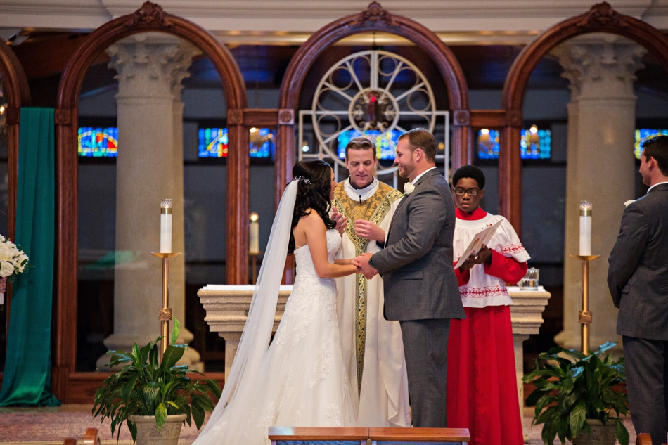 annunication catholic wedding