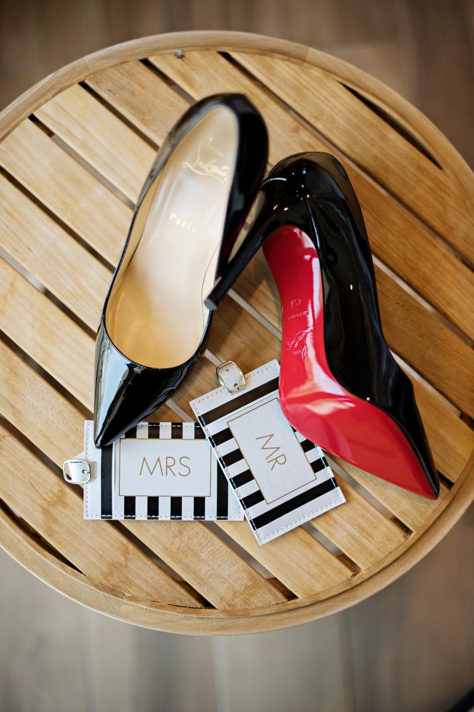 Louboutin black stiletto shoes