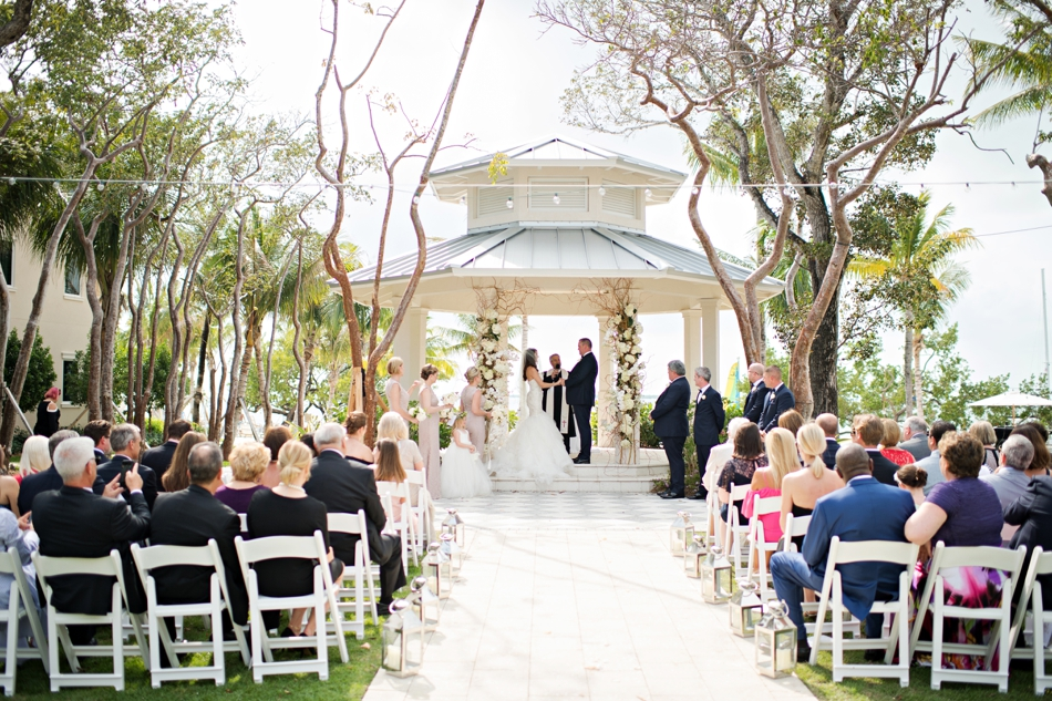 Outdoor ceremony destination wedding florida
