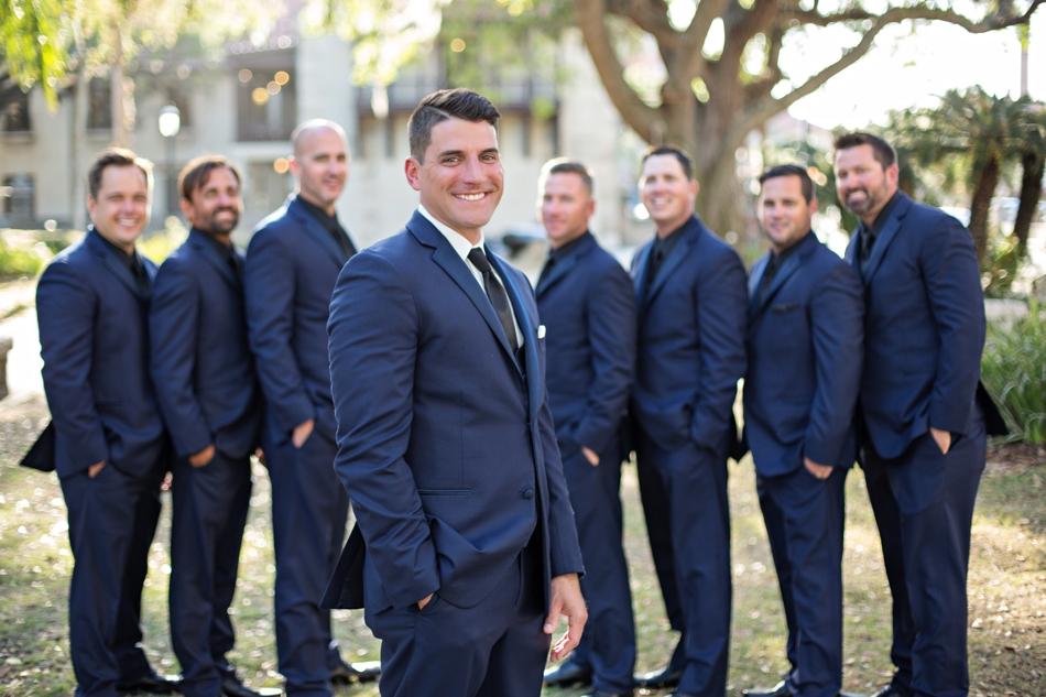 navy groomsmen attire