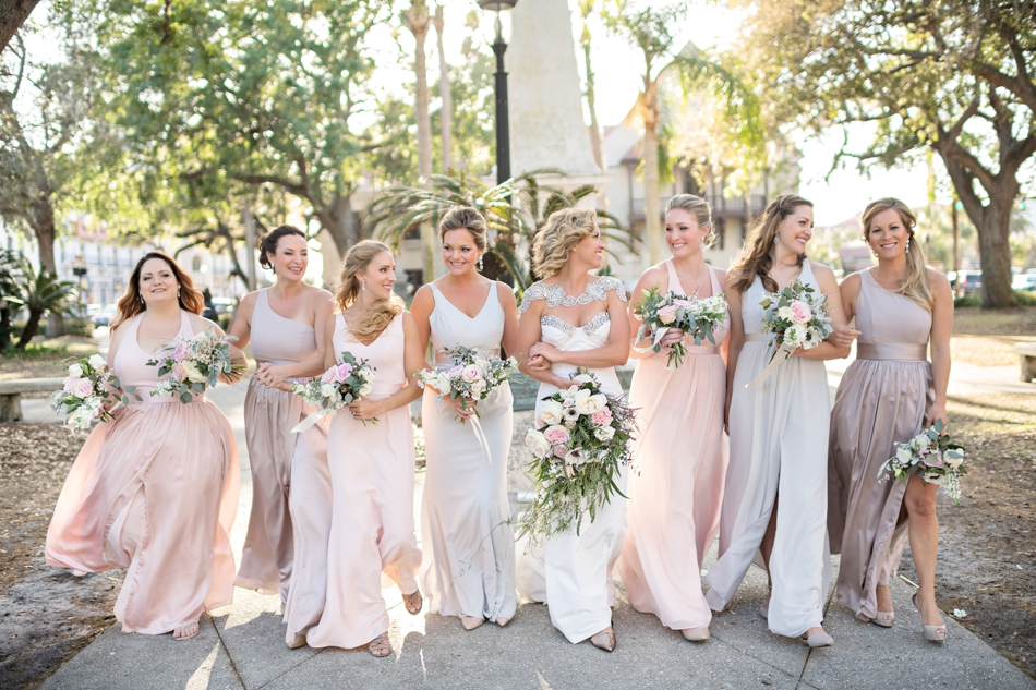 beautiful mixed bridesmaids dresses